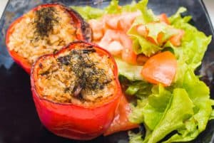 Baked Stuffed Tomatoes​