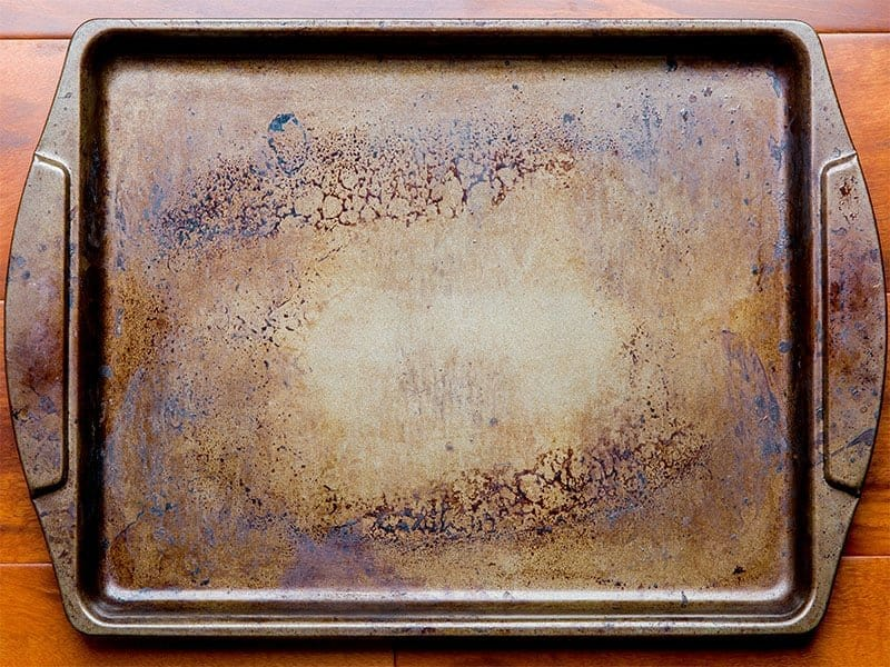 Old Dirty Oven Baking Tray