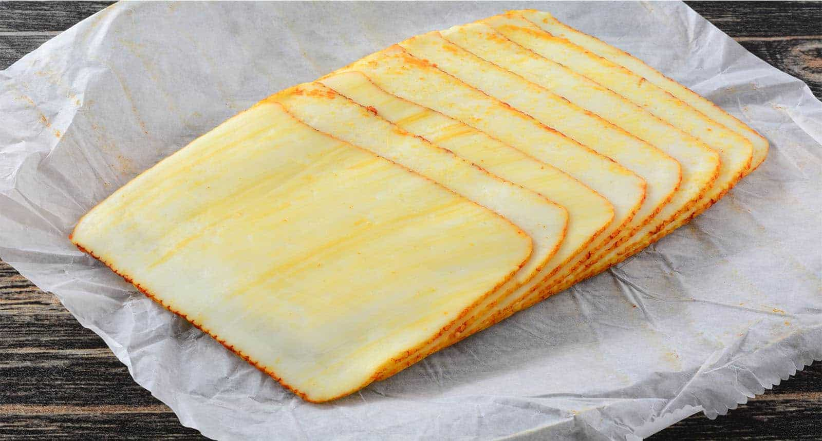 Stack Muenster Cheese Slices
